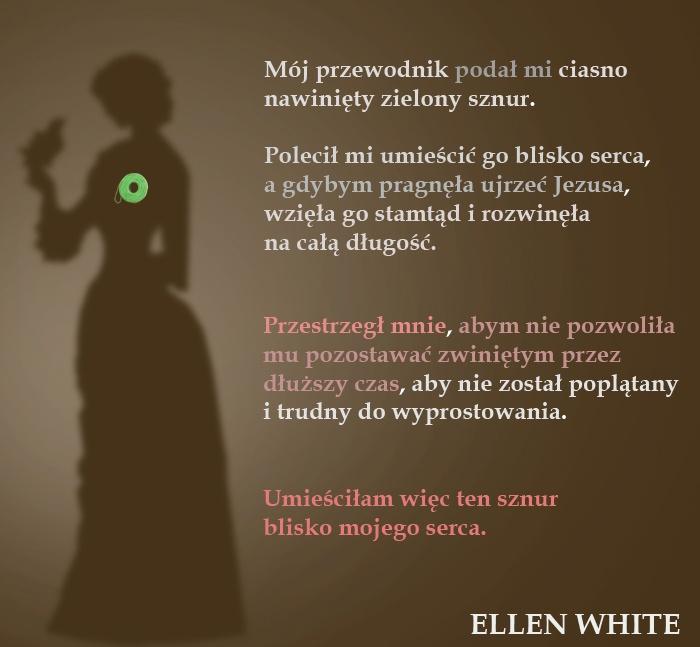 Ellen White akceptuje zielony sznur