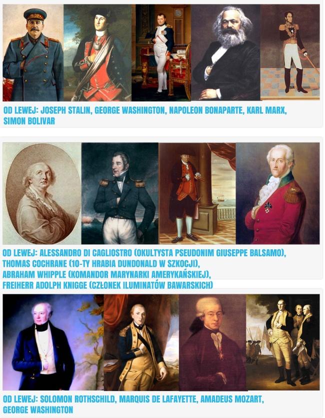 Znane z historii postanie zaangażowane w wolnomularstwo