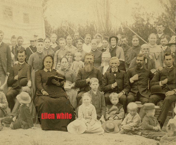 Ellen White wśród starszych Adwentystów na kampie