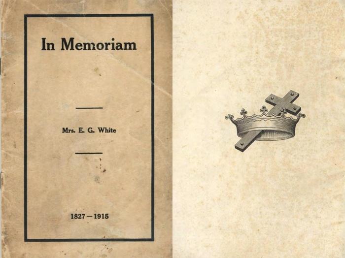 Broszurka pogrzebowa wydana dla pani Ellen White