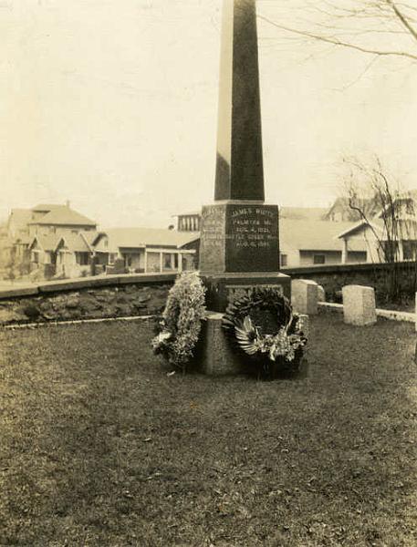 Iglica Kleopatry na grobie Jamesa i Ellen White