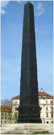 Iglica Kleopatry w Monachium, Niemcy.
