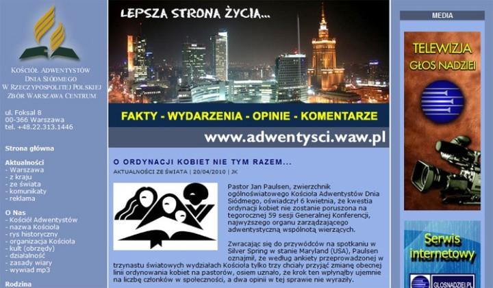 Artykuł na stronie zboru Warszawa Centrum