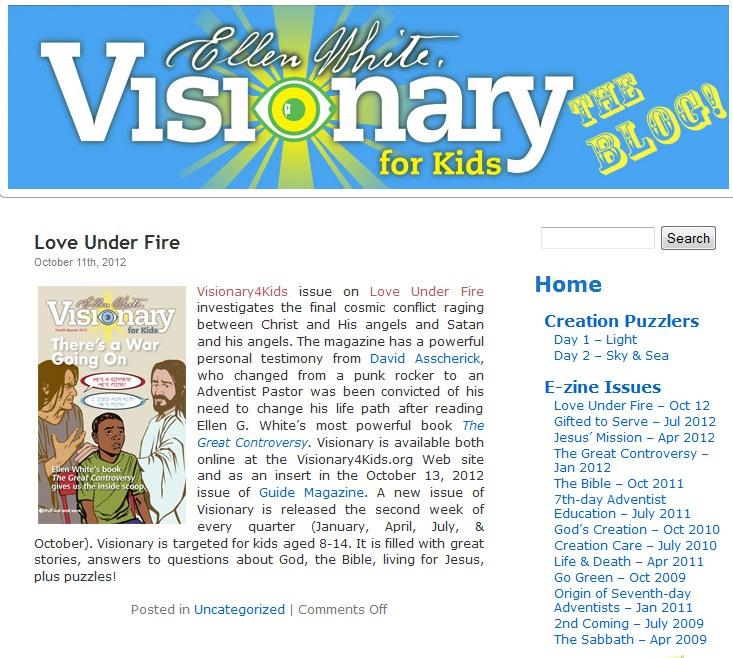 Strona internetowa www.visionary4kids.org