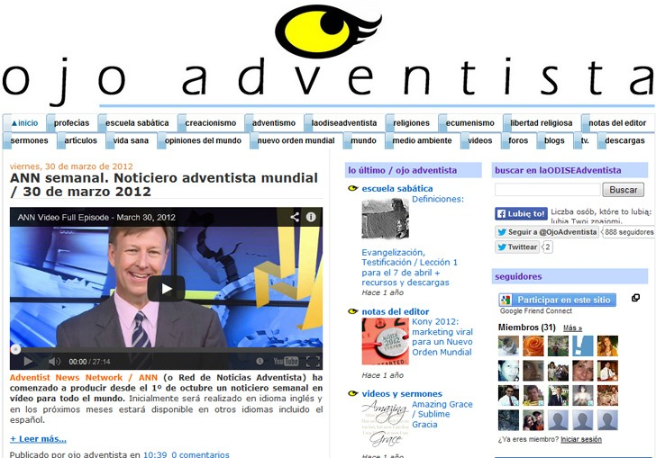Strona internetowa www.laodiceadventista.blogspot.com