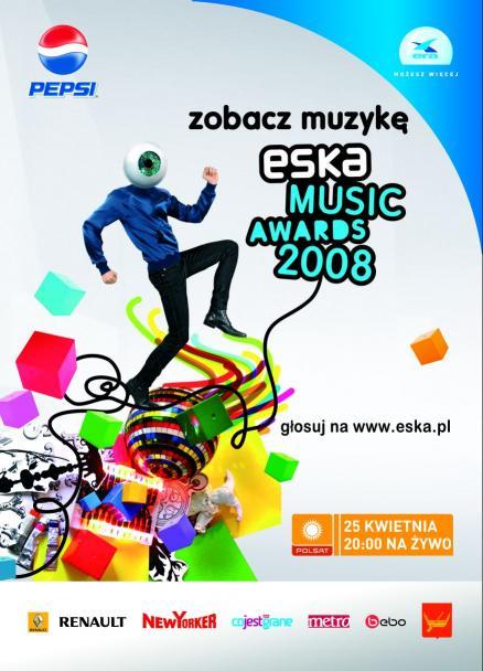 ESKA Music Awards 2008 plakat i wszystkowidzące oko