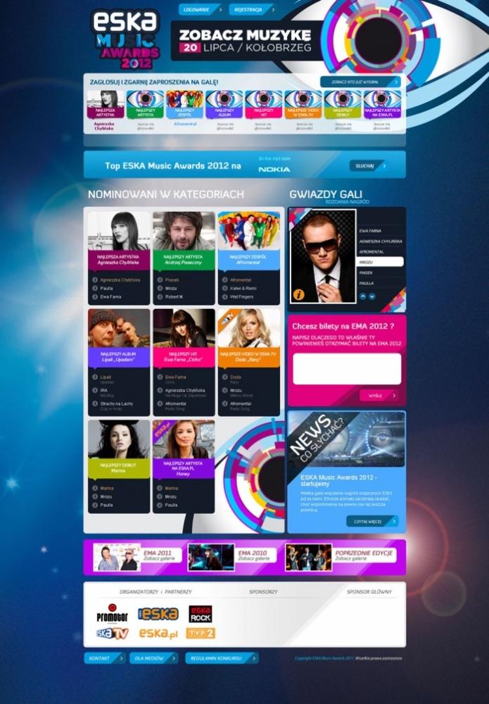 ESKA Music Awards 2012 plakat i wszystkowidzące oko
