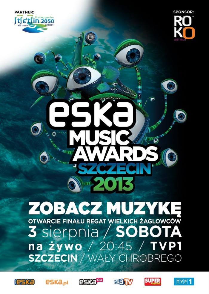 ESKA Music Awards 2013 plakat i wszystkowidzące oko