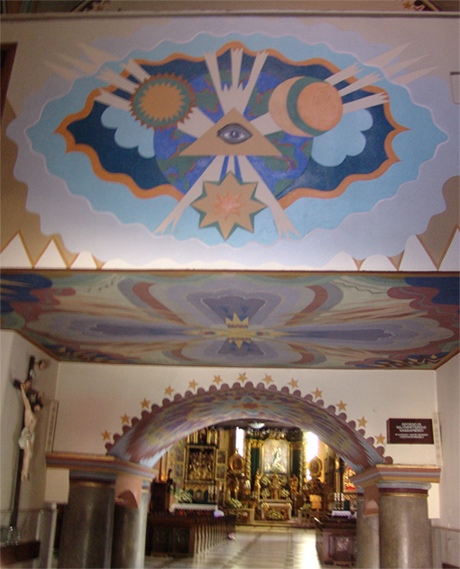 Parafia Narodzenia Najświętszej Maryi Panny w Żywcu. Wejście do kościoła.