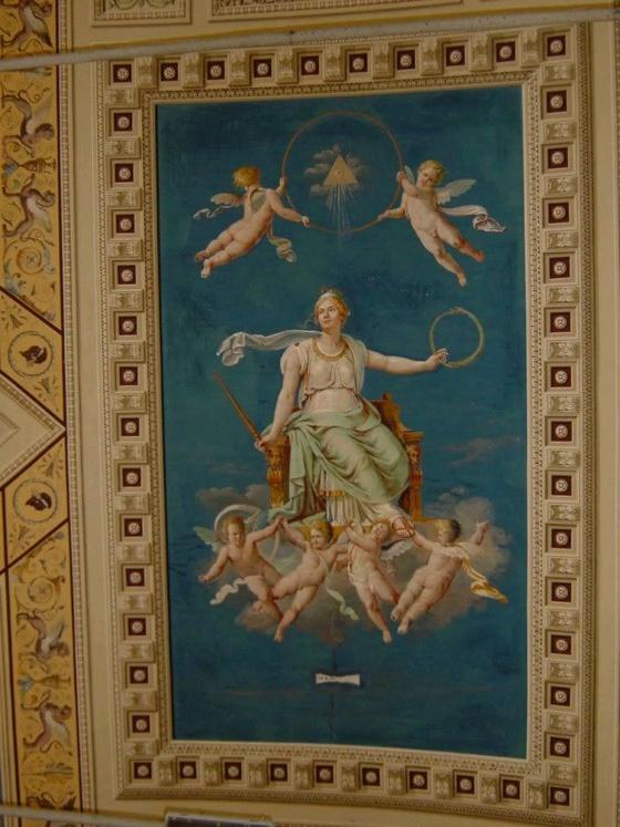 Watykan, malowidło na ścianie katedry.