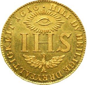Niemiecki dukat zakonu jezuitów z 1616 roku.