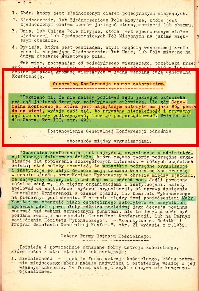 Podręcznik Zborowy Adwentystów rok 1938